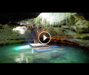 Underground Swimming Hole in Florida