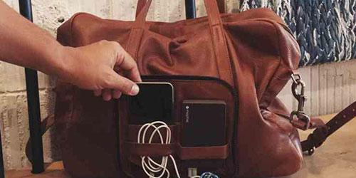 Hands On With Voyager, A Wi-Fi-Enabled Leather Travel Bag